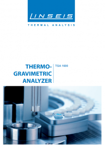 Thermogravimetric Analyzer Product brochure (PDF)