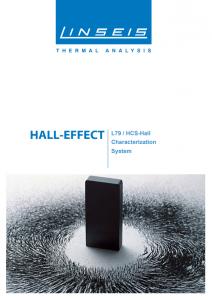 Linseis Produktbroschüre L79 HCS Hall