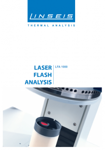 Laser Flash Analysis 1000 Product brochure (PDF)