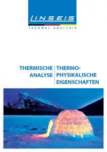 Linseis Produktkatalog Deutsch